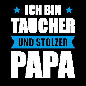 Tauchlehrer und stolzer Papa