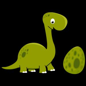Kleiner Dino mit Ei Dinosaurier Geschwister Baby