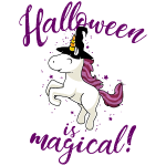 Halloween is magical Einhorn Hexe Unicorn Kind