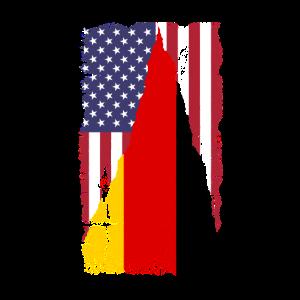 USA Deutschland Amerika Fahne Geschenk