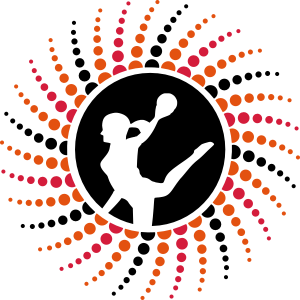 Handballerin Punkte Spirale dunkel