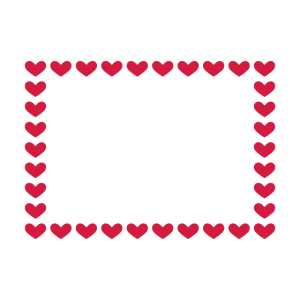 Rechteck Rahmen Box Herz Anpassbar Rot