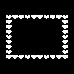 Rechteck Rahmen Herz Anpassbar weiß