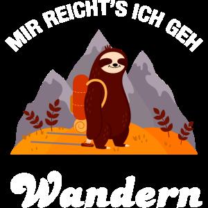 Faultier - Mir Reicht's Ich Geh Wandern