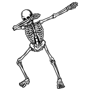 Dab Skeleton Halloween Skelett T-Shirt