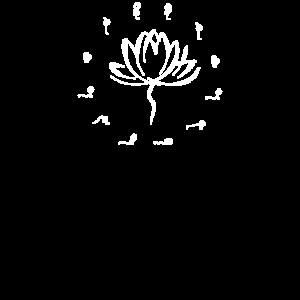 Yoga Sonnengruß Yogasymbol Lotusblüte