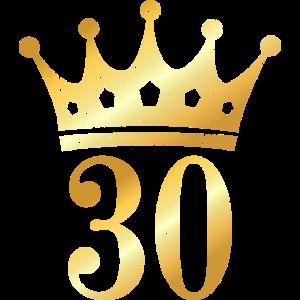 30. Geburtstag Krone (Vintage Goldgelb)