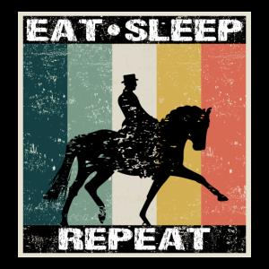 Dressurreiten Pferde Eat Sleep Retro Geschenk