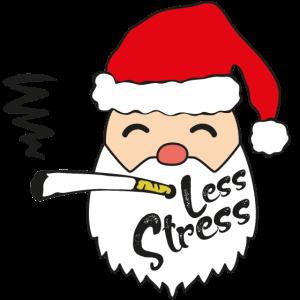 Weihnachtsmann lustig zigarette