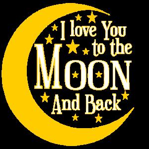 ch liebe dich bis zum Mond und zurück
