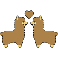 lama alpaca comic love