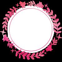 winter kranz pink