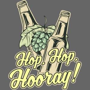 Craft Beer T-Shirt Hop, Hop, Hooray!