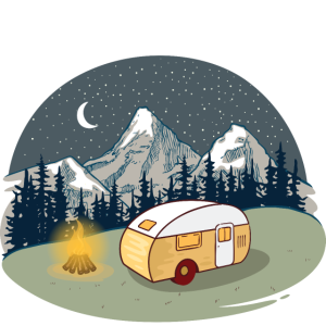 Happy Camper - Camping Mountains Nature