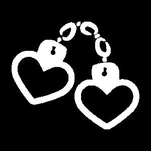 Handschelle Herz weiß
