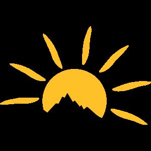 Landschaft - Berge Sonne