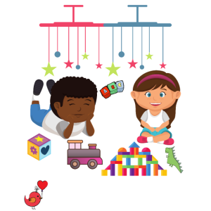 Kinderzimmer Mädchen und Junge - Bauklötze - Lok