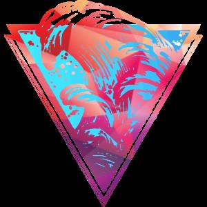 farbige brechende Surfwelle