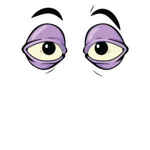 Müdes Karikatur-Auge