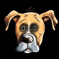 Lächelnder Deutscher Boxer I Hund Kopf I Geschenk