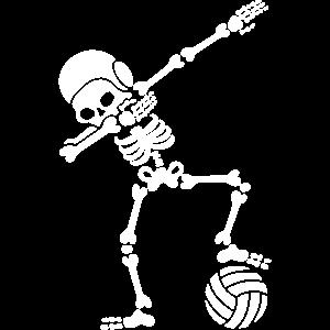Dab dabbing Skelett Wasserball Halloween