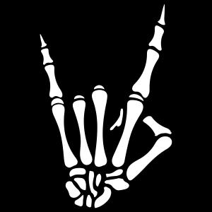skull hand party symbol