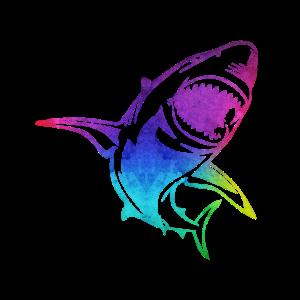 Hai Haie Shark bunt Umriss