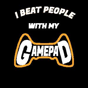 Gamer Nerd Zocker Gamepad daddeln Geschenkidee