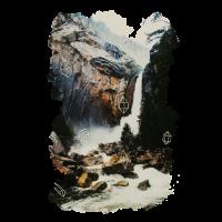 Waterfall with Diamonds