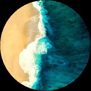 Strand im Kreis
