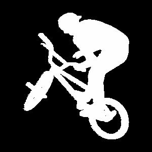 Bmx-Fahrer Radfahrer Weiß Freestyle Retro-Design