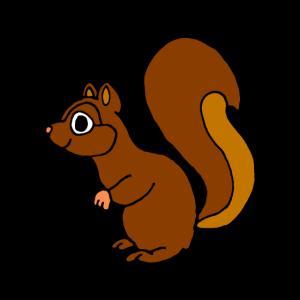 Eichhörnchen, Comic, niedlich