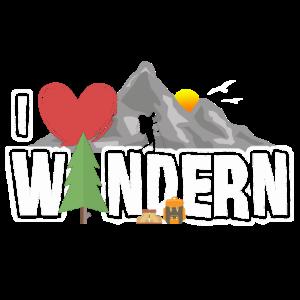 Ich liebe Wandern - Geschenk für Wanderer