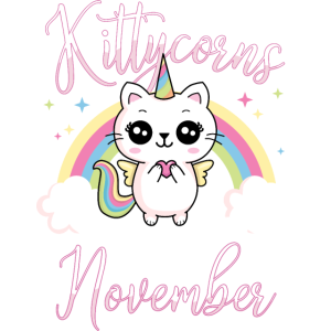Kittycorns born in November Geburtstag Einhorn Cat