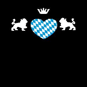 Bayerisches Herz Wappen Patrioten Geschenk