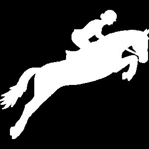 Springreiten Reiten Springen - Pferde Geschenk