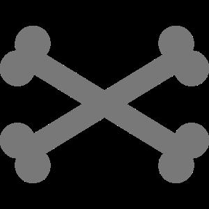 Knochen Kreuz