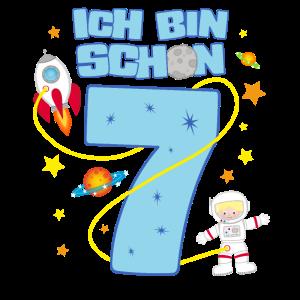 7. Geburtstag Astronaut Weltall Planeten 7 Jahre
