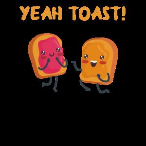 Toast Süße Toastschnitte Geschenk Toastliebhaber