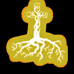 jesus cross tree of life gold shine belief