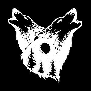 Nature Wolf Outdoor Natur Wald Wildnis Geschenk