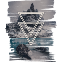 Berge mit Doppel Dreieck