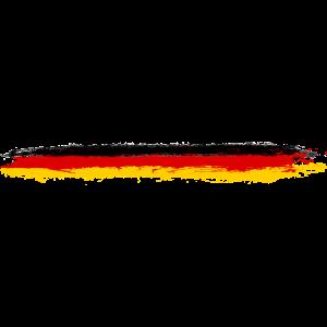 Deutschland Flagge Pinselstriche Streifen