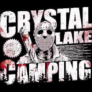 crystal lake camping shirt für horrorfilm fans