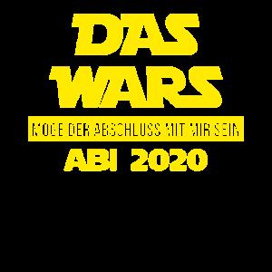 Das Wars Abi 2020 Abschluss Abitur Schule Geschenk