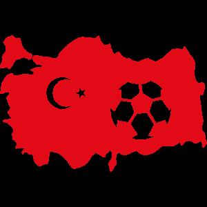 Fussball Soccer Tuerkey Flagge Design
