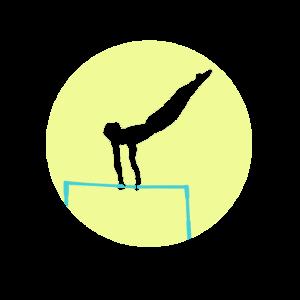 Gymnast Man Reck turnen