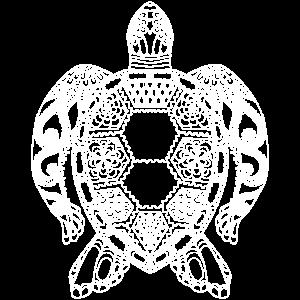 Schildkröte Goa Kontur weiss