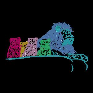 Löwe mit Babys