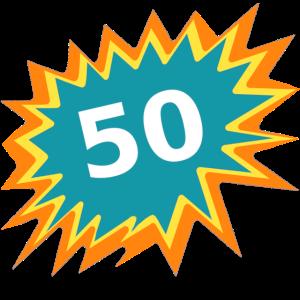 50 bunt, Geburtstag 50, 50 Jahre alt